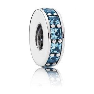 Pandora Eternity Sky Blue Spacer 100% AUTH